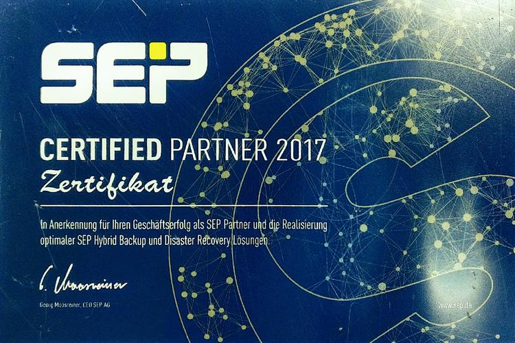 SEP sesam Certified Partner auch 2017